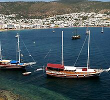 Sailing Yachts in Bodrum by Jens Helmstedt