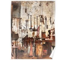 Hand Tools in Machine Shop Poster