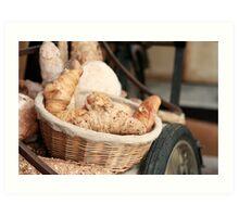 Fresh Bread and Croissants Art Print