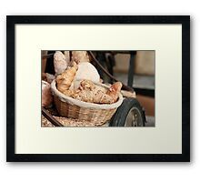 Fresh Bread and Croissants Framed Print