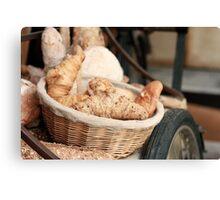 Fresh Bread and Croissants Canvas Print