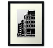 Post nuclear building Framed Print