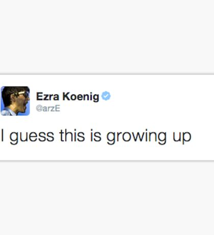 Ezra Koenig tweets about the complexities of adulthood Sticker