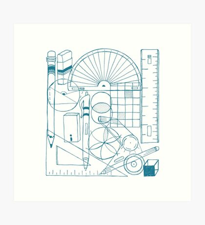 Math & Science Tools 3 Art Print