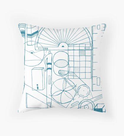 Math & Science Tools 3 Throw Pillow