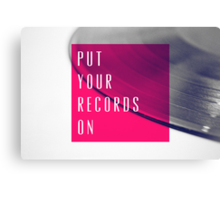 Records [Pink] Canvas Print