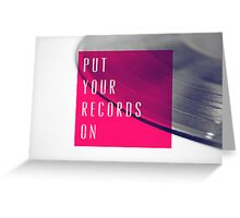 Records [Pink] Greeting Card