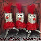Can-can dancers by Caroline  Peacock
