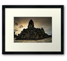 Center Stones, Angkor Wat, Cambodia Framed Print