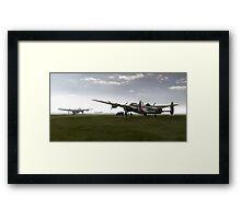 Lancasters on dispersal, colour version Framed Print