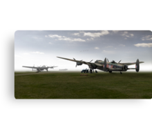 Lancasters on dispersal, colour version Canvas Print