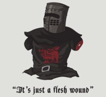 "The Black Knight - ""It's Just a Flesh Wound"" (Black Text) by theITfactor"