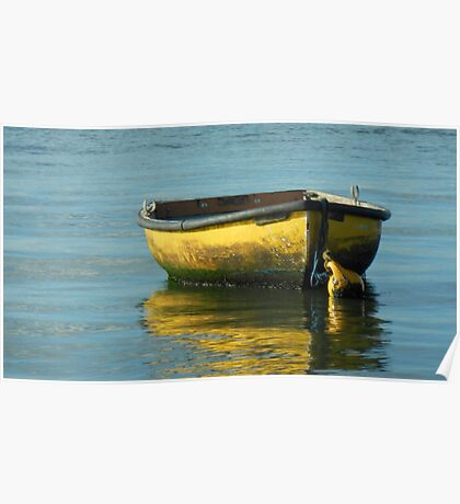 yellow boat 1 Poster