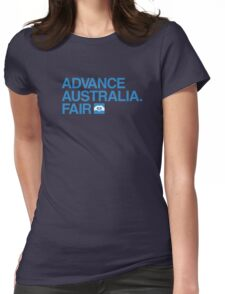 Advance Australia. Fair. Womens Fitted T-Shirt