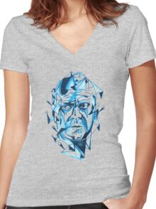 Bruce Willis is my homeboy ( light colors) Women's Fitted V-Neck T-Shirt