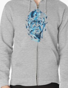 Bruce Willis is my homeboy ( light colors) Zipped Hoodie