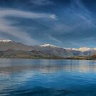 New Zealands Lakes of Blue by Larry Lingard-Davis