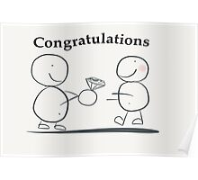 Congratulations on your engagement Poster