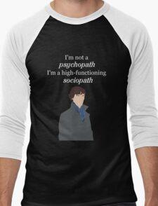 Sherlock BBC Sociopath Men's Baseball ¾ T-Shirt
