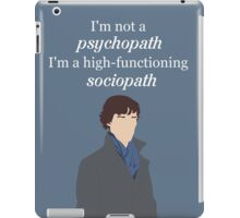 Sherlock BBC - Sociopath Quote iPad Case/Skin