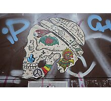 Skull Graffiti from Barcelona  Photographic Print