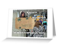 """Appreciate the Honesty"" by Carter L. Shepard Greeting Card"