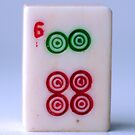Mahjong Series - Tile 6 by rosetewolfelens