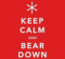 Keep Calm and Bear Down One Piece - Long Sleeve