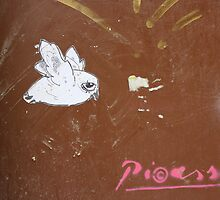 "Paper Paste Up Graffiti - ""Picasso Bird"" by Punk60"
