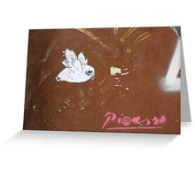 "Paper Paste Up Graffiti - ""Picasso Bird"" Greeting Card"