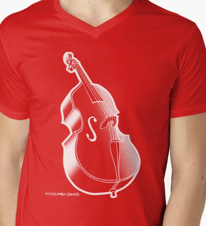 Double Bass Mens V-Neck T-Shirt