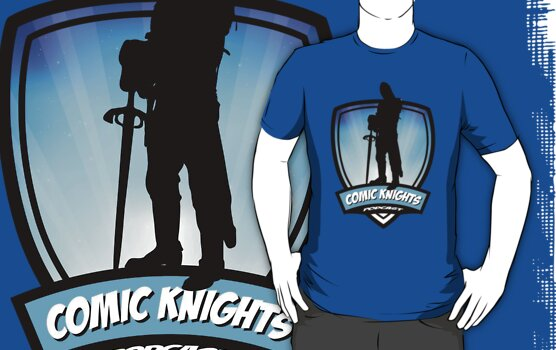 Comic Knights Tee by aqualec