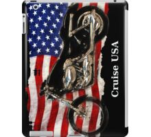 Patriotic US Flag, Motorcycle, Motorbike iPad Case/Skin