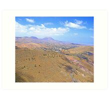 Lanzarote Landscape Art Print