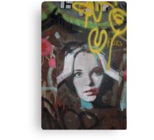 """Warhol Stencil Graffiti """"Mia Undone"""" Canvas Print"""