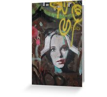 "Warhol Stencil Graffiti ""Mia Undone"" Greeting Card"