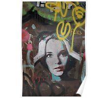 "Warhol Stencil Graffiti ""Mia Undone"" Poster"