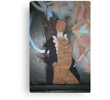 "Modern Graffiti - Paste Up Paper  ""Joan of Arc"" Canvas Print"
