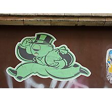 "Monopoly Man ""Richer Than Ever"" Paper Graffiti Photographic Print"