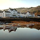 Front Street Reflections in Loch Fyne by Christine Smith