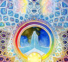 Hindu Goddess Aditi in Rainbow Colors by PearlWhitecrow