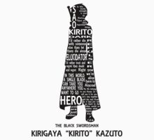Kirito Typography by MLPAggie