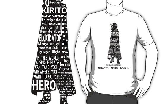 Kirito Typography T-Shirts & Hoodies by MLPAggie | Redbubble