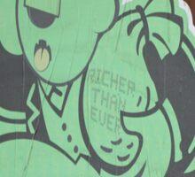 "Monopoly Man ""Richer Than Ever"" Paper Graffiti Sticker"