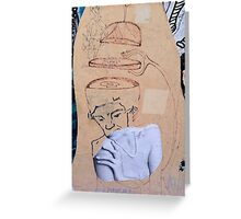 Street Art - Fantastic Abstract Modern Montage Greeting Card