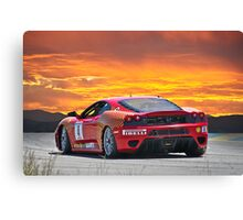 Ferrari F430 Going Away Canvas Print