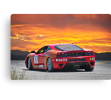Ferrari F430 Going Away Canvas Print