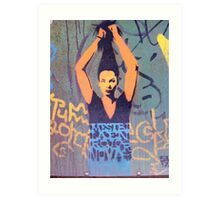 "Awesome Stencil Graffiti - ""Hair There"" Art Print"