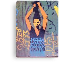 "Awesome Stencil Graffiti - ""Hair There"" Canvas Print"