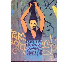 "Awesome Stencil Graffiti - ""Hair There"" Photographic Print"